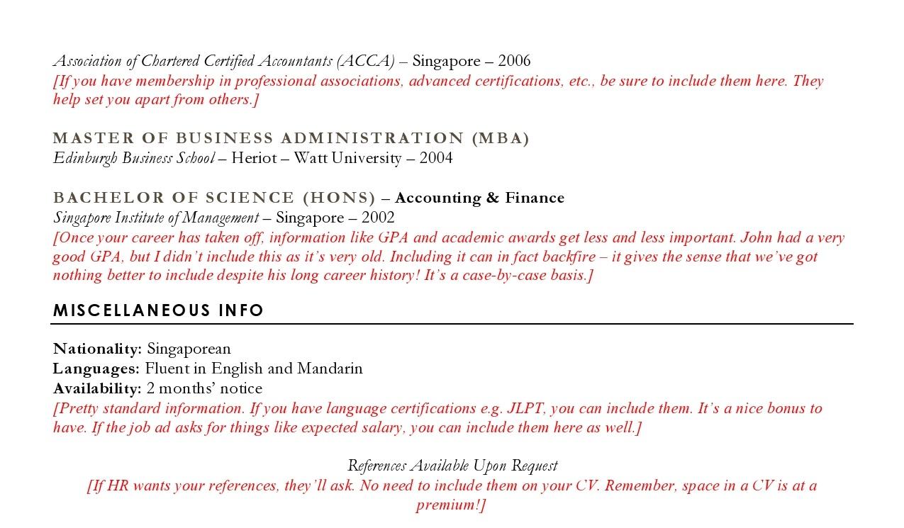 Accounting Resume Sample | CV Sample for Accountants