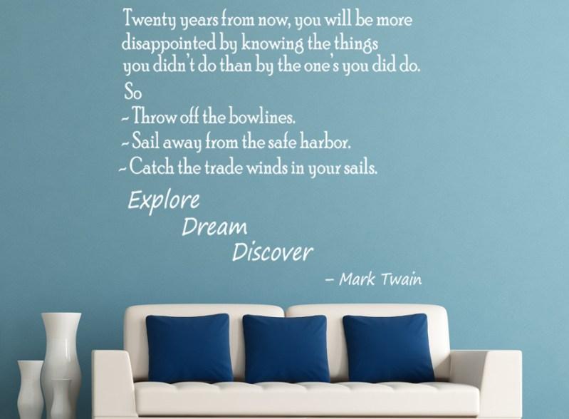 Markt Twain 20 years quote